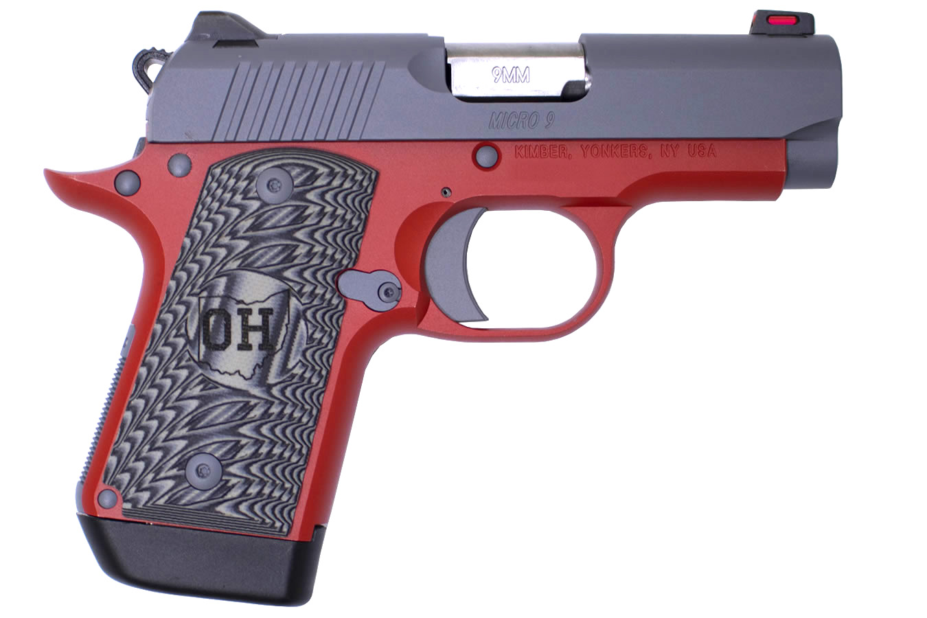 Kimber Micro 9 9mm Matte Grey Slide And Matte Red Frame