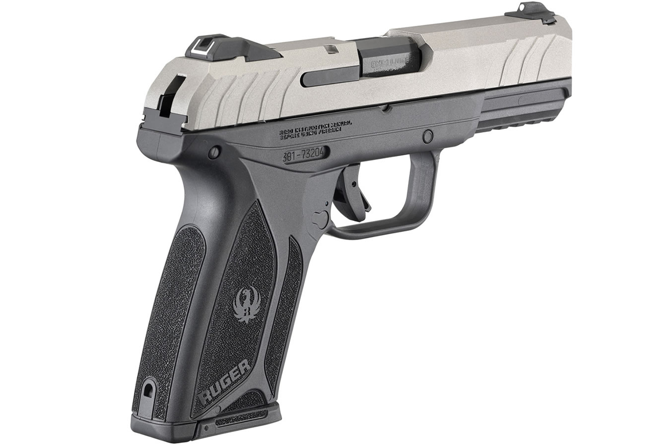 Security-9 9mm Pistol with Silver Cerakote Slide