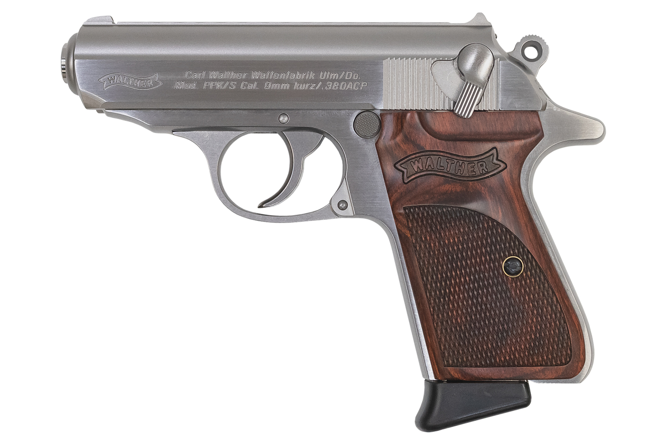 PPK/S 380 ACP Stainless Carry Conceal TALO Exclusive with Wood Grips