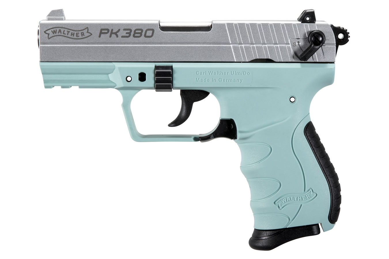 walther pk380 380 acp centerfire pistol with angel blue frame and rh sportsmansoutdoorsuperstore com Walther P22 Walther PPQ