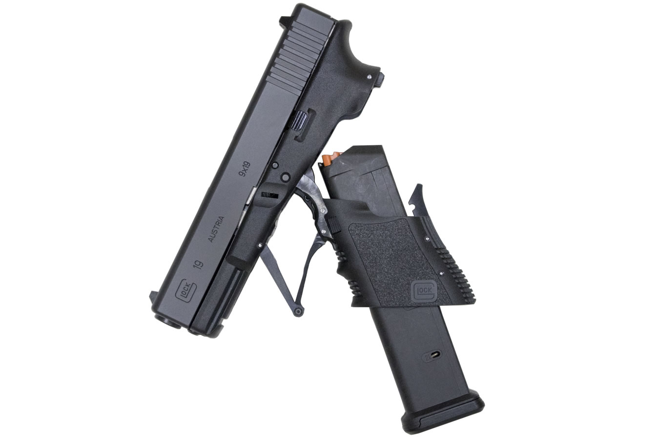 Full Conceal M3D 9mm Folding Glock 19 with 21-Round Magazine ...
