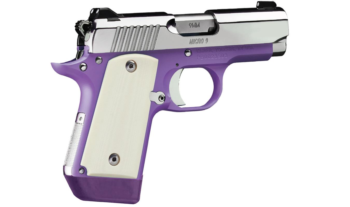 Kimber micro 9 violet 9mm carry conceal pistol sportsman for Micro vap violet
