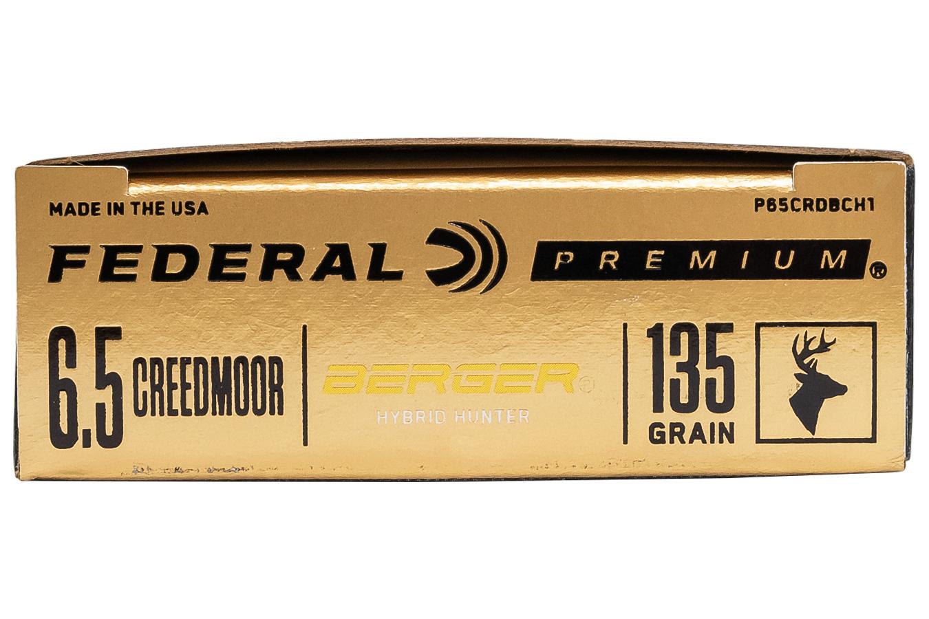 6 5 Creedmoor 135 gr Berger Hybrid Hunter 20/Box