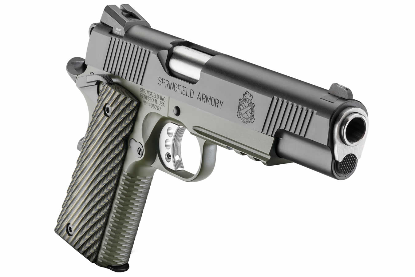 1911 Loaded MC Operator  45 ACP with G10 Grips and Night Sights