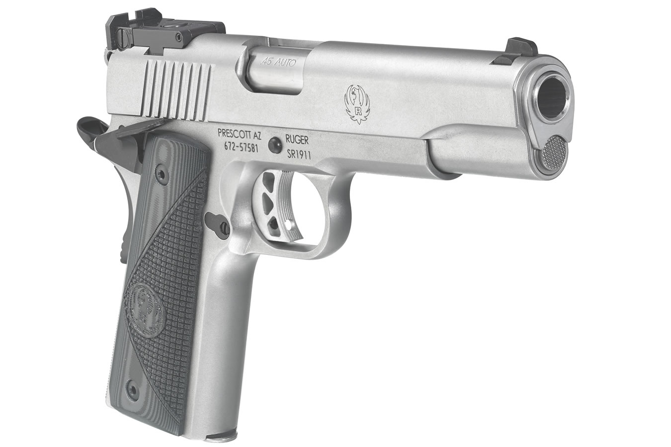 Ruger Sr1911 45acp Stainless Target With Bomar Style Adjustable Kimber 1911 Exploded Diagram In Stock And Ready To Ship