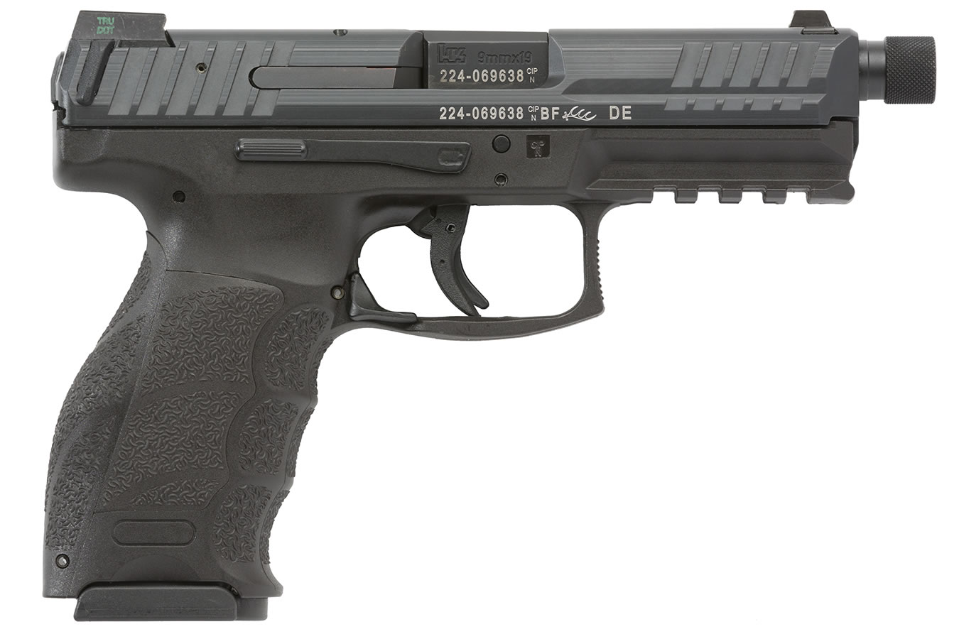 Vp9 tactical 9mm with threaded barrel and night sights sportsman