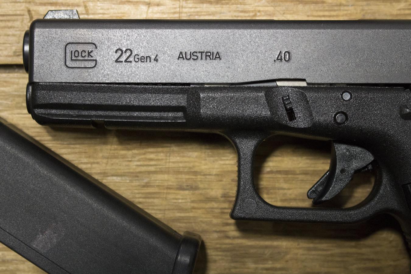 Glock 22 Gen4 40 S&W Police Trades (Very Good Condition ...