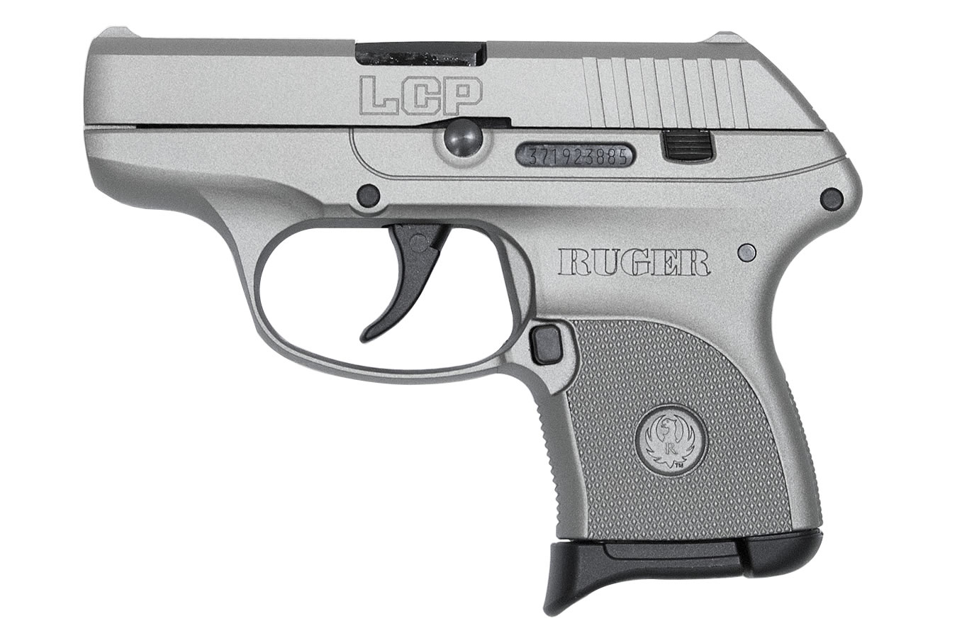 Ruger Lcp 380 Auto Centerfire Pistol With Savage Silver Cerakote Finish