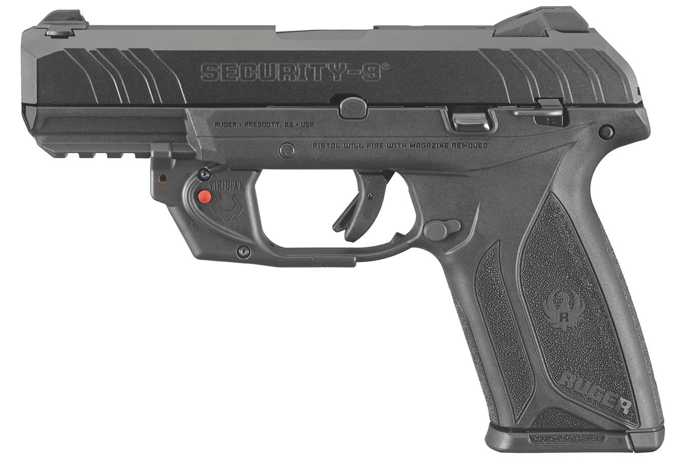 Security-9 9mm Pistol with Viridian E-Series Laser