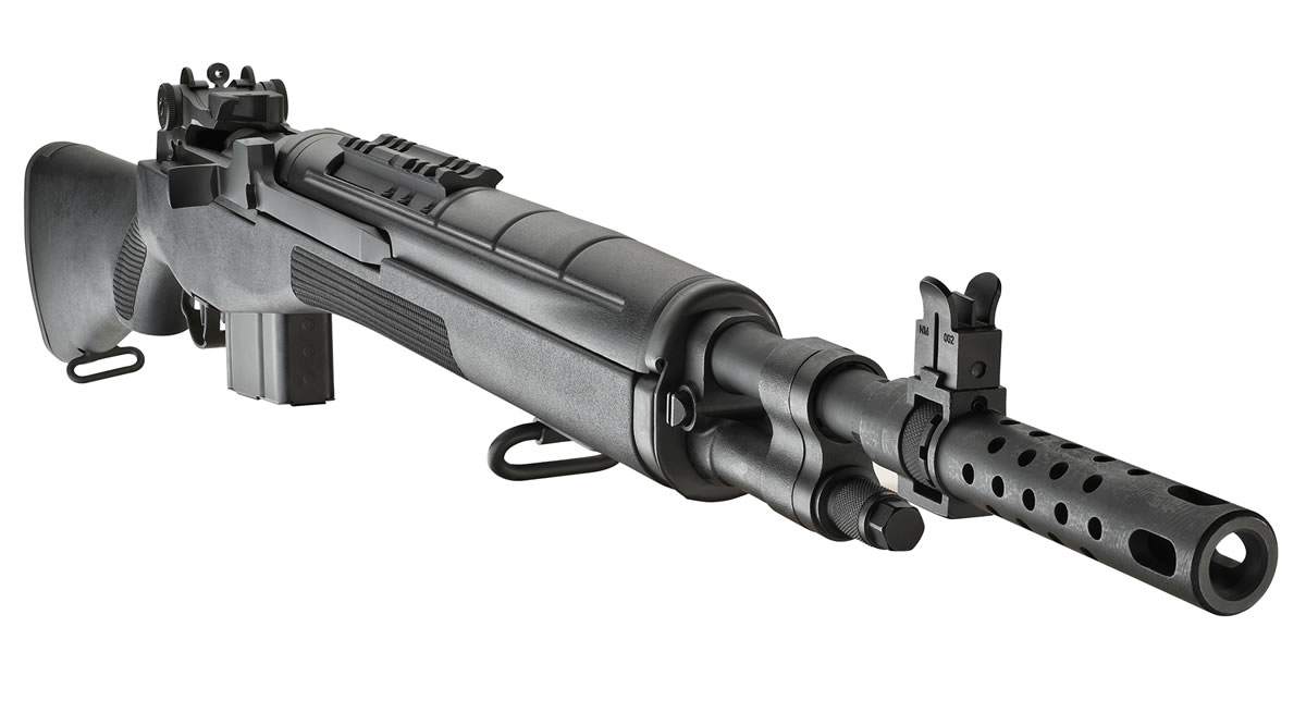 Springfield M1a Scout Squad 308 With Black Composite Stock