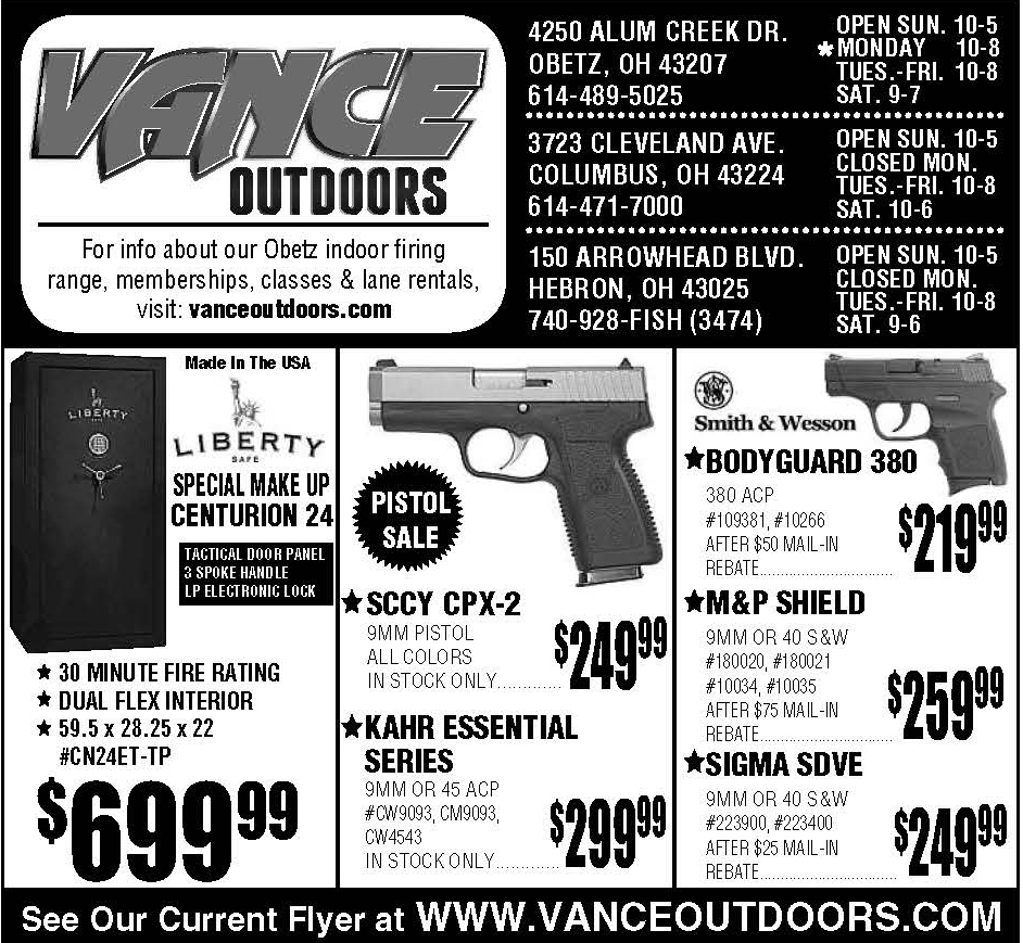 Vance's Weekly Ad Insert: Sunday, April 23, 2017