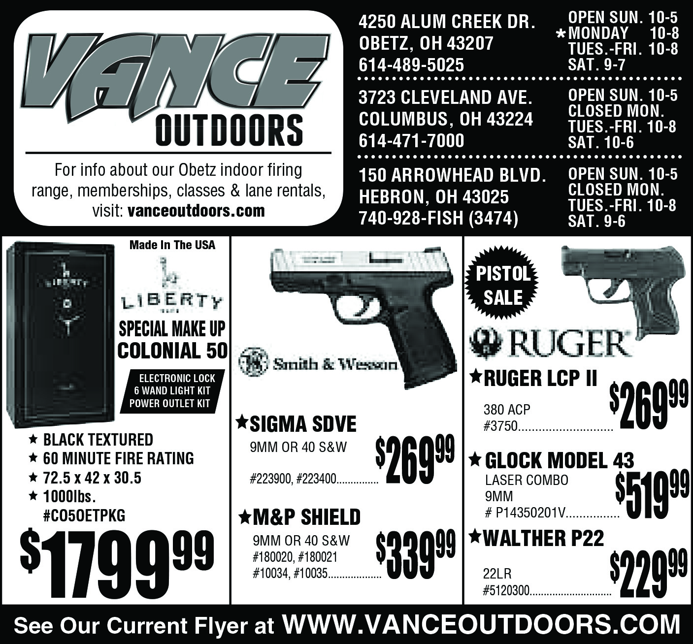 Vance's Weekly Ad Insert: Sunday, March 19, 2017