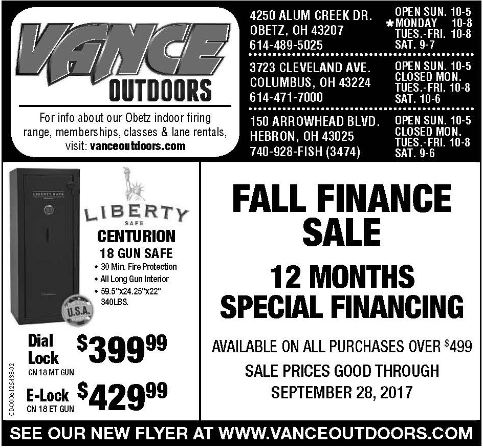 Vance's Weekly Ad Insert: Sunday, September 10, 2017