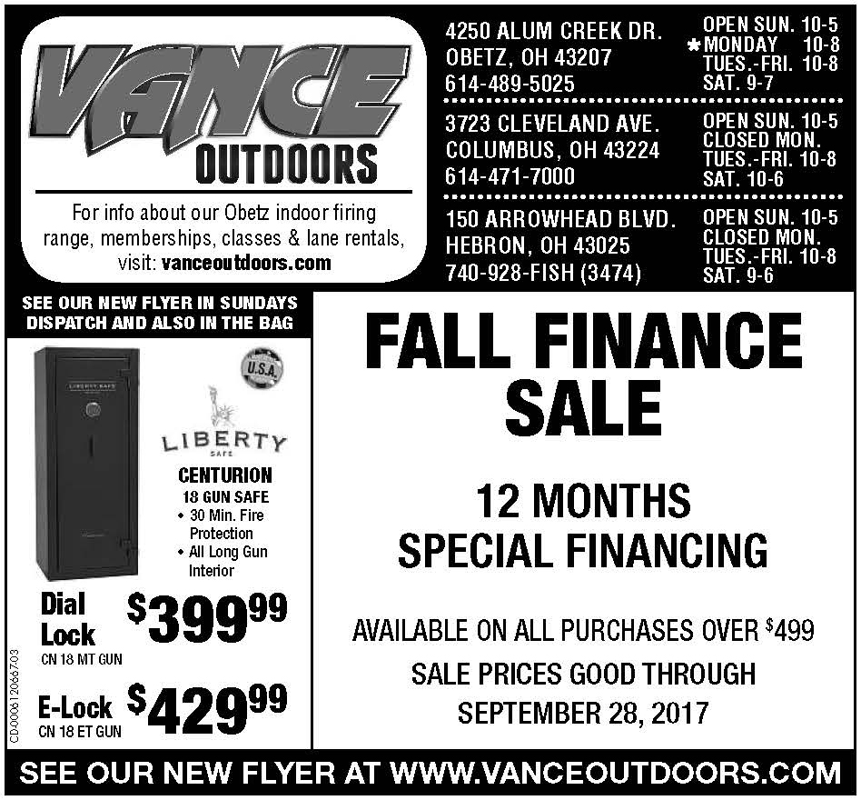 Vance's Weekly Ad Insert: Sunday, August 20, 2017