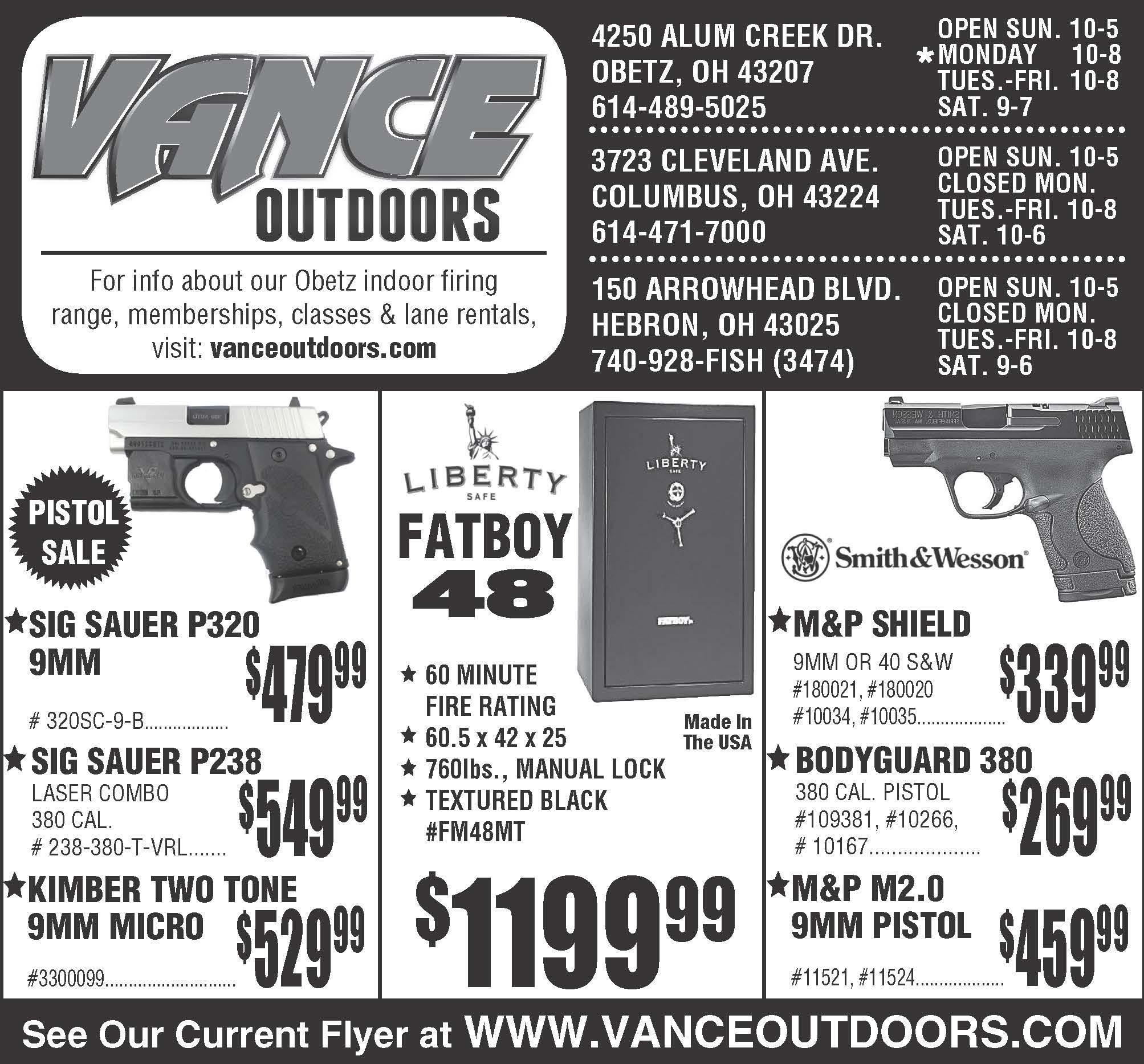 Vance's Weekly Ad Insert: Sunday, February 12, 2017