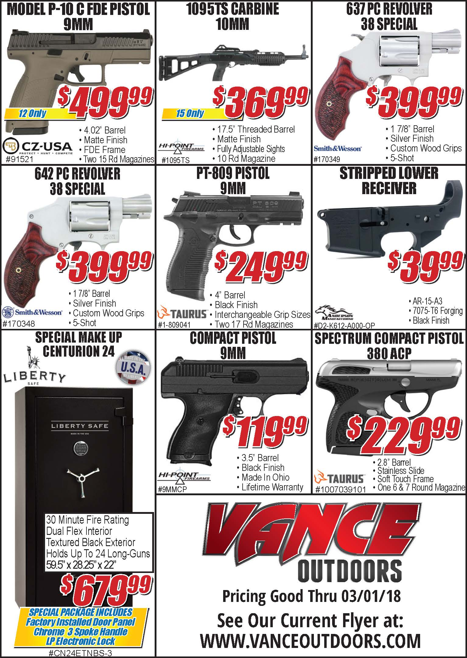 Vance's Weekly Ad Insert: Thursday, February 22, 2018